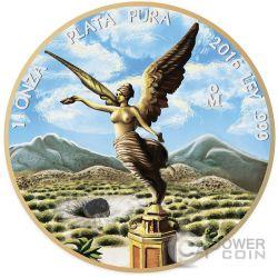 OUNCE OF SPACE Mexican Libertad Allende Meteorite 1 Oz Silver Coin Mexico 2016