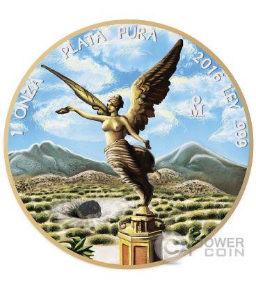 OUNCE OF SPACE Mexican Libertad Allende Meteorite 1 Oz Moneta Argento Messico 2016