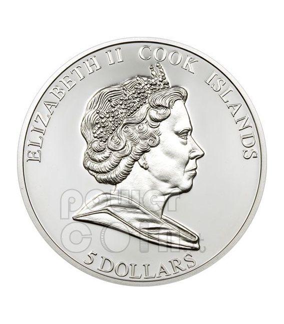 NAPOLEON Great Battles Commanders Moneda Plata 5$ Cook Islands 2009