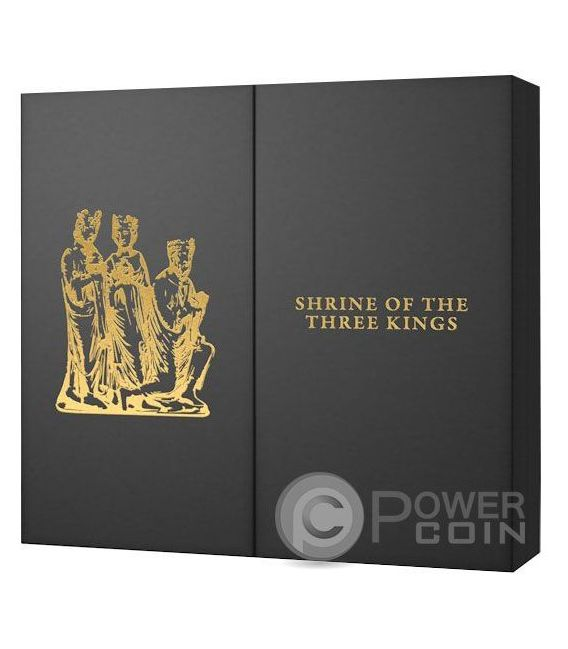 SHRINE OF THE THREE HOLY KINGS Masterpieces of Art 3 Oz Silber Münze 20$ Gold 25$ Cook Islands 2016