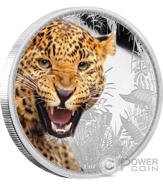JAGUAR Kings of the Continents Giaguaro Re dei Continenti 1 Oz Moneta Argento 2$ Niue 2016