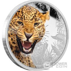 JAGUAR Kings of the Continents Giaguaro Re dei Continenti 1 Oz Moneta Argento 2$ Niue 2016