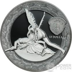 CUPID AND PSYCHE Eternal Sculptures Canova 2 Oz Серебро Монета 10$ Палау 2016