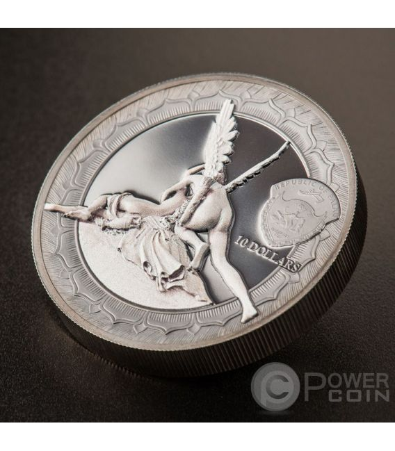 CUPID AND PSYCHE Eternal Sculptures Canova 2 Oz Silver Coin 10$ Palau 2016