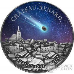 CHATEAU RENARD French Meteorite Moneda Plata 1000 Francs Burkina Faso 2016