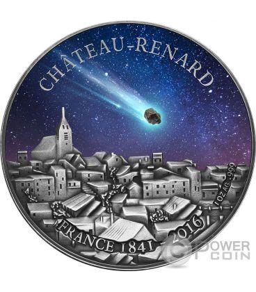 CHATEAU RENARD French Meteorite Moneta Argento 1000 Franchi Burkina Faso 2016