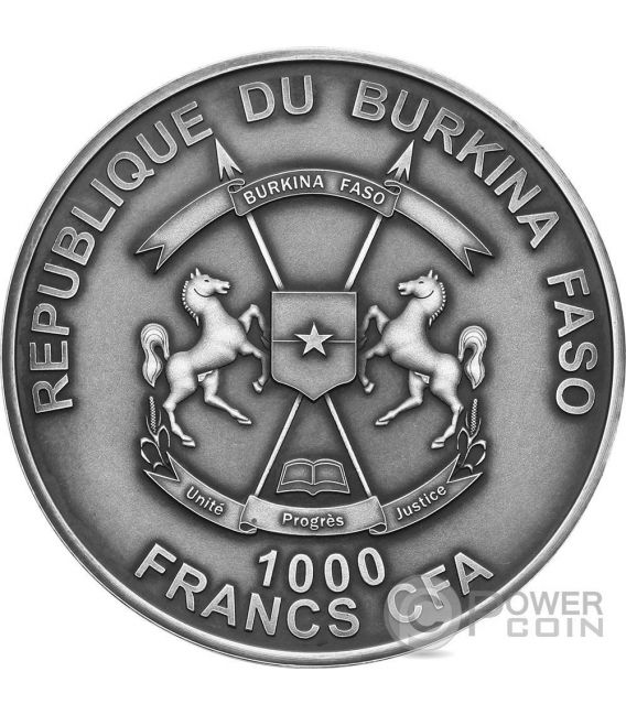CHATEAU RENARD French Meteorite Silber Münze 1000 Francs Burkina Faso 2016