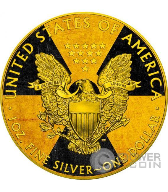 NUCLEAR EAGLE Armageddon Nuke Walking Liberty 1 Oz Silver Coin 1$ US Mint 2016