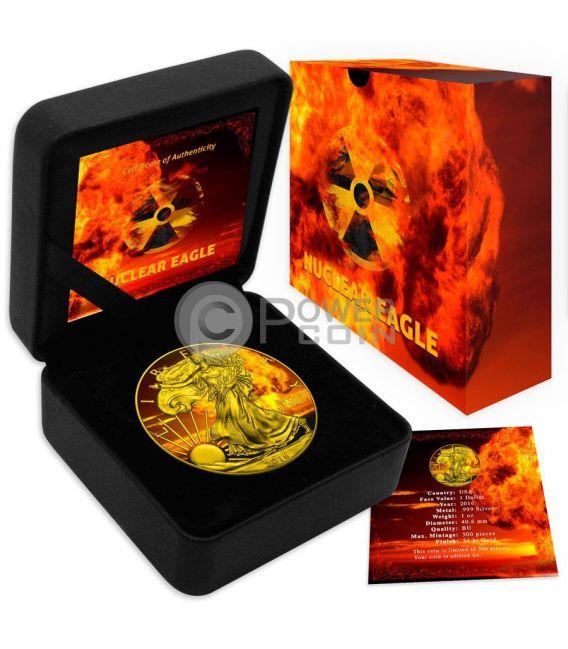 NUCLEAR EAGLE Armageddon Nuke Walking Liberty 1 Oz Silber Münze 1$ US Mint 2016