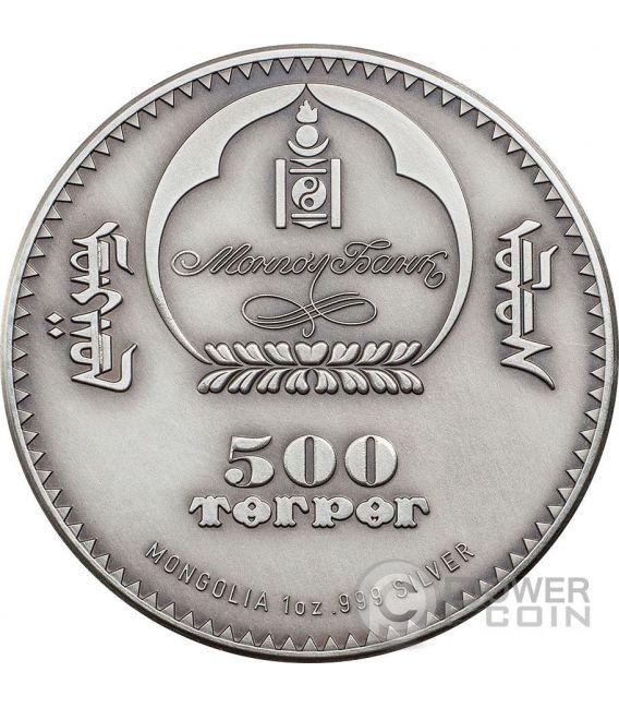 TRILOBITE Evolution of Life Ordovician Period Silber Münze 500 Togrog Mongolia 2016