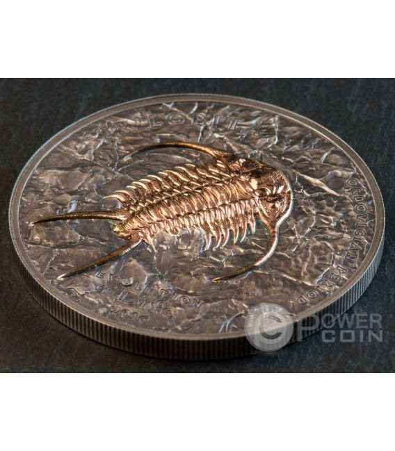TRILOBITE Evolution of Life Ordovician Period Silver Coin 500 Togrog Mongolia 2016