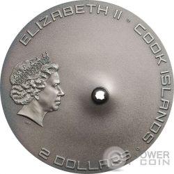 TAMDAKHT METEORITE STRIKE Meteor Silber Münze 2$ Cook Islands 2016