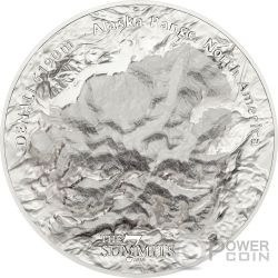 DENALI 7 Summits Alaska Range Monte 5 Oz Moneta Argento 25$ Cook Islands 2016