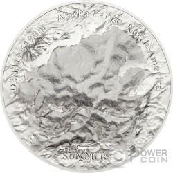 DENALI 7 Summits Alaska Range Mount 5 Oz Silber Münze 25$ Cook Islands 2016