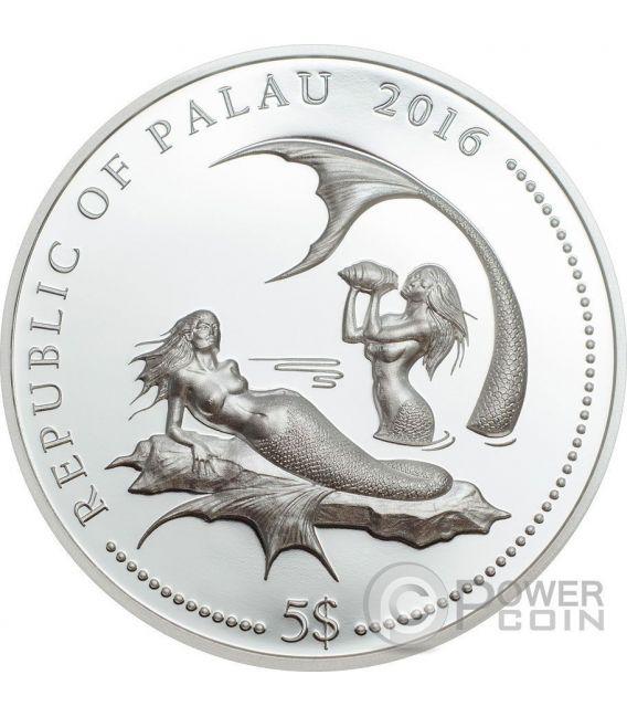 CORAL HIND Marine Life Protection Moneda Plata 5$ Palau 2016