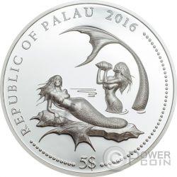 CORAL HIND Marine Life Protection Silver Coin 5$ Palau 2016