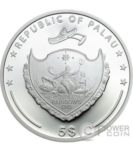 FOUR LEAF CLOVER Ounce Of Luck 1 Oz Silber Münze 5$ Palau 2017