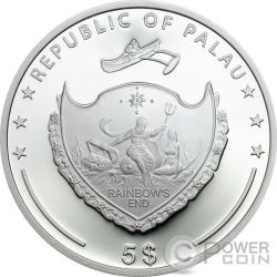 FOUR LEAF CLOVER Ounce Of Luck 1 Oz Silber Münze 5$ Palau 2017