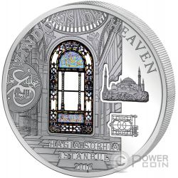 HAGIA SOPHIA Windows Of Heaven Cathedral Moneda Plata 10$ Cook Islands 2016