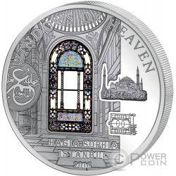 HAGIA SOPHIA Windows Of Heaven Cattedrale Moneta Argento 10$ Cook Islands 2016