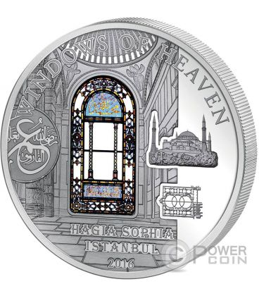 HAGIA SOPHIA Windows Of Heaven Cathedral Silver Coin 10$ Cook Islands 2016