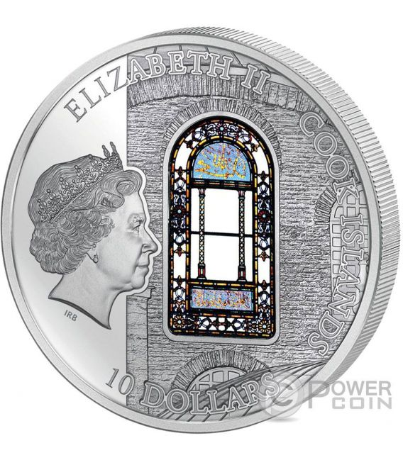 HAGIA SOPHIA Windows Of Heaven Cathedral Silber Münze 10$ Cook Islands 2016