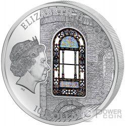 HAGIA SOPHIA Windows Of Heaven Cathedral Серебро Монета 10$ Острова Кука 2016