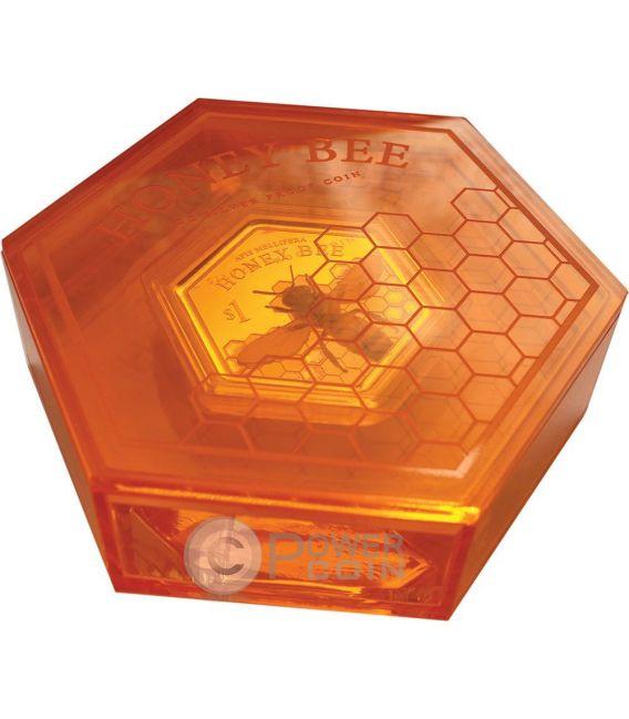 HONEY BEE Hexagonal Shape 1 Oz Silber Münze 1$ New Zealand 2016