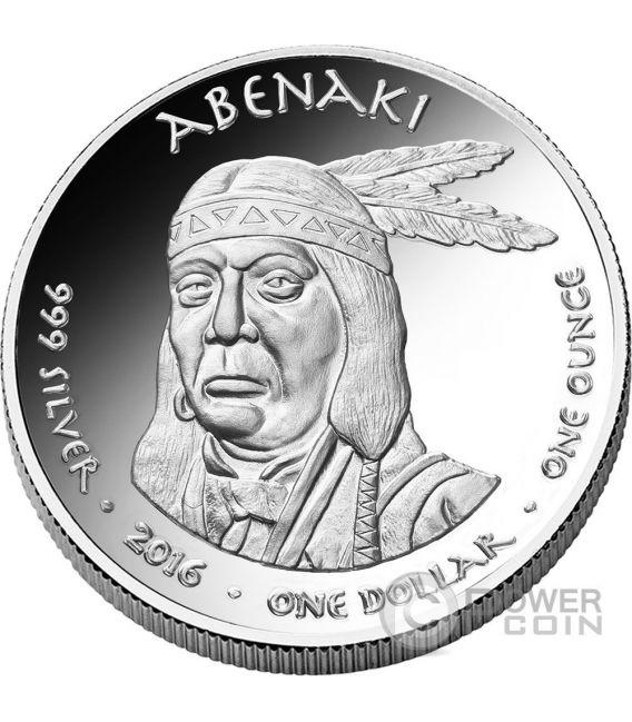 HAMPSHIRE BOBCAT Abenaki Native State 1 Oz Moneda Plata 1$ Jamul 2016