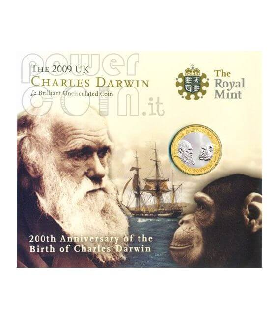 DARWIN Charles 200th Anniversary BU Coin Pack £2 UK Royal Mint 2009