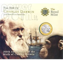 DARWIN Charles 200th Anniversary BU Münze Pack £2 UK Royal Mint 2009