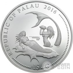 CORAL HIND Marine Life Protection Cooper Серебро Plated Монета 1$ Палау 2016