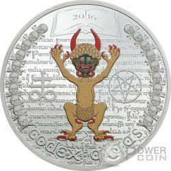 CODEX GIGAS Devil Bible The Dark Side 1 Oz Серебро Монета 1000 Франков Экваториальная Гвинея 2016