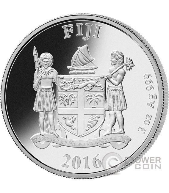 UNICORN Purity and Grace 3 Oz Moneda Plata 5$ Fiji 2016