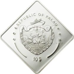 MARAT Soviet Battleship 2 Oz Moneda Plata 10$ Palau 2010