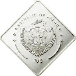 MARAT Soviet Battleship 2 Oz Серебро Монета 10$ Палау 2010