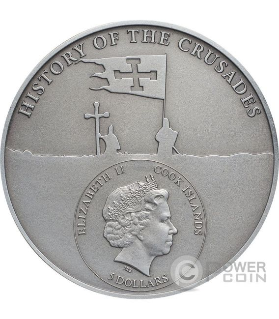CRUSADE 9 Edward I of England Moneda Plata 5$ Cook Islands 2016