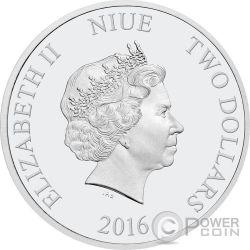 KRISTOFF AND SVEN Disney Frozen Magic of the Northern Lights 1 Oz Серебро Монета 2$ Ниуэ 2016
