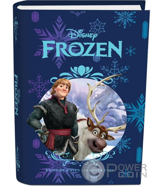 KRISTOFF AND SVEN Disney Frozen Magic of the Northern Lights 1 Oz Moneda Plata 2$ Niue 2016