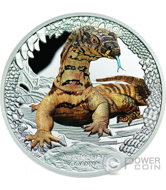 Australian Goanna Remarkable Reptiles 1 Oz Silver Proof