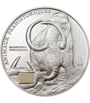 MAMMUT Animali Preistorici Moneta Argento 1000 Franchi Costa Avorio 2010