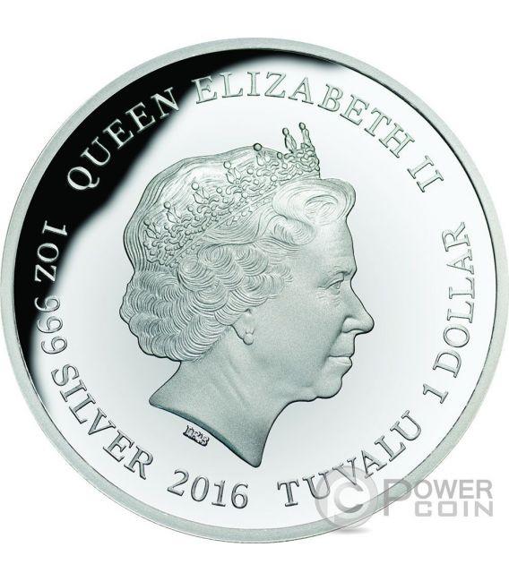 AUSTRALIAN GOANNA Remarkable Reptiles 1 Oz Plata Proof Moneda 1$ Tuvalu 2016