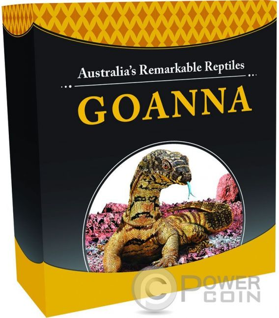 AUSTRALIAN GOANNA Varano Gigante Remarkable Reptiles 1 Oz Moneta Argento 1$ Tuvalu 2016