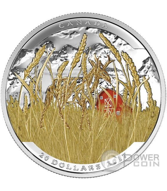 PRONGHORN Landscape Illusion Silber Münze 20$ Canada 2017