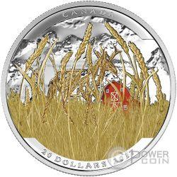 PRONGHORN Antilocapra Landscape Illusion Illusione Moneta Argento 20$ Canada 2017