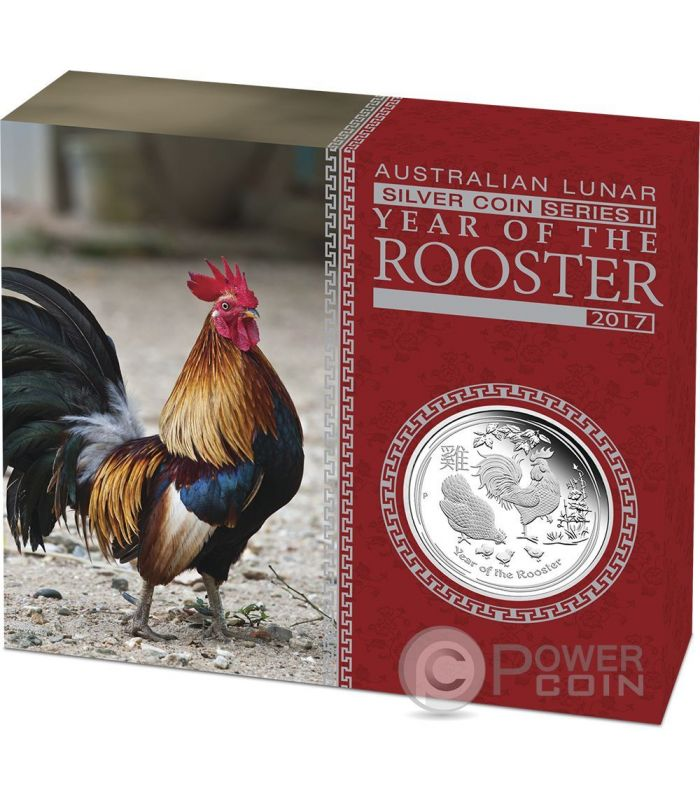 Rooster Lunar Year Series 1 Oz Silver Proof Coin 1