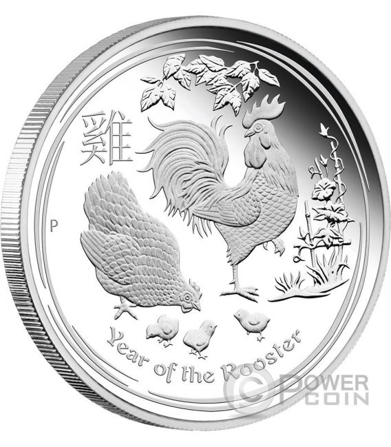 ROOSTER Lunar Year Series Three 3 Coins Set Silver Proof Australia 2017