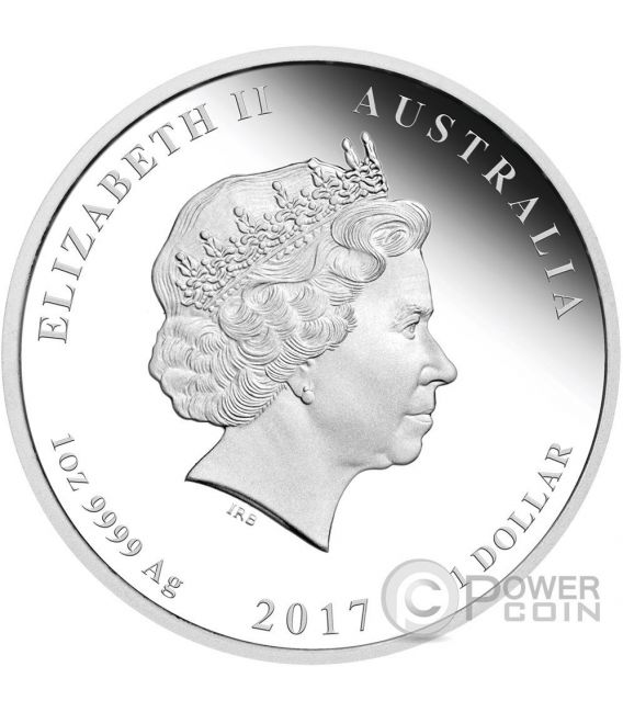 GALLO Rooster Lunar Serie Set 3 Monete Argento Proof Australia 2017