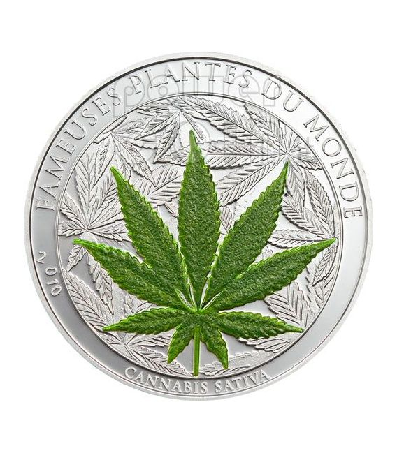 MARIHUANA Canapa Cannabis Leaf Famous Plants Smelling Moneda 100 Francs Benin 2010