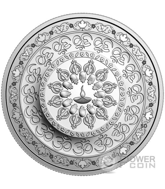 DIWALI Festival of Lights Silver Coin 20$ Canada 2016